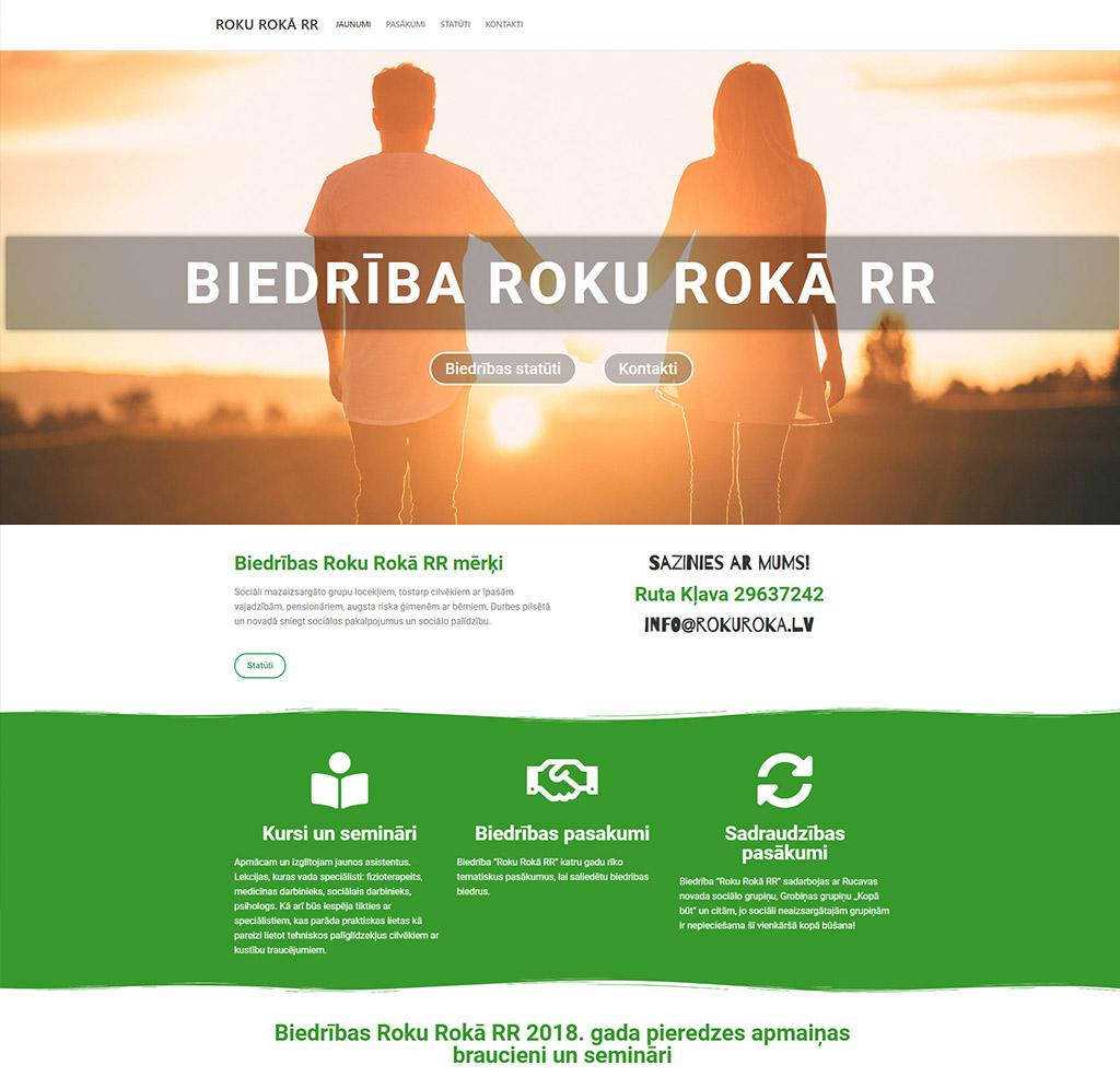 projekta izstrāde mājas lapai rokuroka rr