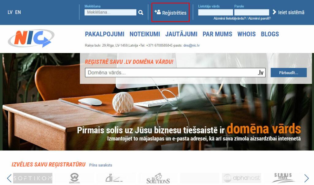profila-reģistrācija-majaslapas-domēnam